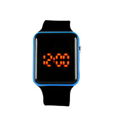 Men Womens Silicone LED Sport Watch Touch Digital Bracelet Wrist Watches Black