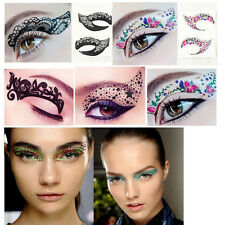 10 Pairs Random Glitter Crystal Temporary Eye Tattoo Makeup Eyeshadow Stickers