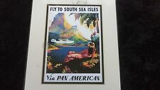 Vintage Wall Hanging South Sea Isles Home Decor 1960's Airline Collectible