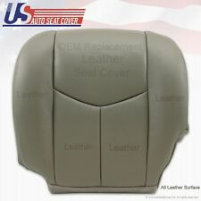 2003 2004 2005 2006 2007 GMC Sierra Driver Bottom Leather Seat Cover pewter gray