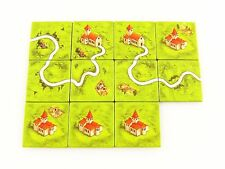 Carcassonne Replacement / Expansion Monastery-Road-Field Land Tile Set 11pc