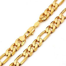 """On SALE 18k Yellow Gold Plated Cuban Curb Chain Necklace 22"""" Men Jewelry 8mm"""