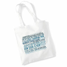Art Studio Tote Bag THE SMITHS Lyrics Print Album Poster Gym Beach Shopper Gift
