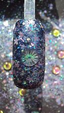 glitter mix acrylic gel nail art    ALL EYES ON YOU