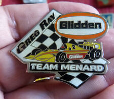 RARE PIN'S COURSE USA INDY CAR IRL F1 PILOTE GREG RAY TEAM MENARD GLIDDEN