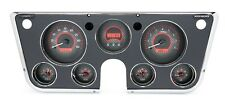 1967-72 Chevy Truck C10 Dakota Digital Carbon Fiber & Red VHX Analog Gauge Kit