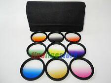77mm 9 graduated gradual color filter kit set for Canon Nikon Sony Sigma Tamron