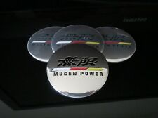 HONDA MUGEN WHEEL RIMS CENTRE CAP SET COVER DECAL STICKER TYPE R EP3 FN2 AP1 EK9
