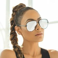 87df557c37b Quay X Desi Perkins High Key Black silver Mirror Sunglasses Newt