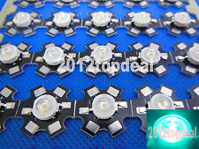 20PC 3W High Power diode cyan 490nm LED Emitter Bead 3.2-3.4V with 20mm star pcb