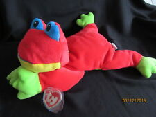 TY PILLOW PALS RIBBIT - THE RED FROG