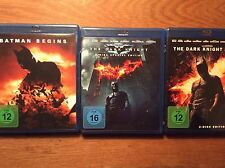 The Dark Knight + Batman Begins + Rises [ 5 BLU RAY ] Christian Bale / NOLAN