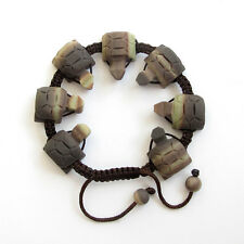 Natural Stone Gem Long Life Turtle Tibet Buddhist Prayer Beads Mala Bracelet