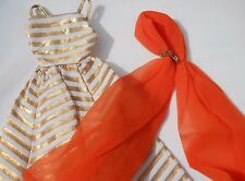 Vintage Barbie Doll Holiday Dance #1639 Dress, Chiffon Sash Rare 1965 Gorgeous