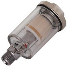 "Mini AIR LINE FILTER 1/4"" for Spray Gun Water Trap Clear Moisture Painting U278"