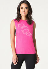 $49 NWT NEW BEBE SPORT PINK GLOW DROPPED ARMHOLE TANK TOP M