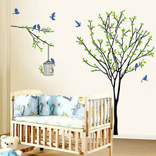 Tree, Bird, Birdcage Wall Stickers. Nursery, Bedroom, Nursery, Kitchen, Child