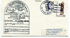1988 USCGC Northwind WAGB-282 Laptev Greenland Thule Polar Cover SIGNED