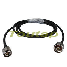 RF N male plug to N male adapter Jumper Pigtail Cable RG58 50cm for WLAN antenna