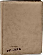Tan Premium Ultra Pro 9 Pocket 20 Pages 360 crads Binder NEW Free USA Ship