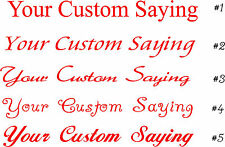 Your Custom Saying Wall Sticker Wall Art Decor Vinyl Lettering Words