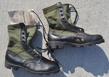 Genuine US Army JUNGLE BOOTS Spike Protective Men's 7.5 W (Wide) NEW OD Side!