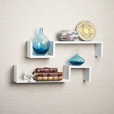 Danya B S Wall Mount Shelf - Set of 2-Color White