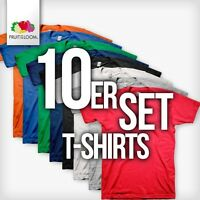 10x FRUIT OF THE LOOM T-Shirts Gr. S M L XL XXL XXXL 3XL 4XL 5XL T-Shirt
