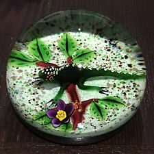 "William Manson Large Green ""African Chameleon"" LE Paperweight New In Box w COA"