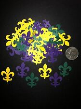 50 MARTHA STEWART MARDI GRAS FLEUR DE LIS DIE CUTS PUNCHES GREEN YELLOW PURPLE