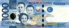 1000 PHP Philippine pesos NGC (new style) crisp uncirculated bills currency