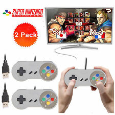 2Pack  SNES USB Controller For PC/Mac Super Nintendo Games Retro Classic Gamepad