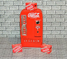 ONE SODA MACHINE with three Red Coca-Cola Cases 1:24 SCALE DOLL HOUSE DIORAMA