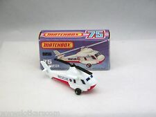 Matchbox Superfast MB75 Rescue Helicoptère neuf/boîte  (#MBA)