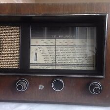 WONDERFUL 1938 VINTAGE ORIGINAL TELEFUNKEN RADIO-WOODEN CASE-MADE IN GERMANY