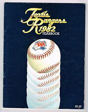 1982 Texas Rangers MLB Baseball YEARBOOK