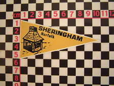 1960's Vintage Style Sheringham Holiday Pennant - Classic Camper Coach VW Car