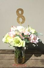 Gold Glitter Wedding Table Numbers 1 - 10, Wedding Signs