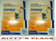 CANIMAX Heartworm / Allwormer 2 PACK  For Large Dogs 8 tablets