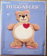 M.C.G. Textiles Latch Hook Huggables BEAR RUG #36350 hooking Kit 34x24 teddy NIP