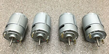 Mabuchi 12V DC Motor 2100-2900 rpm DUAL SHAFT hobbies RC CARS, (LOT of 4 motors)