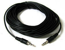 25ft 3.5mm Audio Stereo Headphone Male to Male Extension Plastic Cable 25 FT New