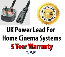 UK Mains Power Lead Cable Cord For Home Cinema Systems LG Sony Samsung Cinemate