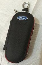Ford Leather Key Cover Case Holder Ring Chain Fob Long!