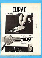 QUATTROR965-PUBBLICITA'/ADVERTISING-1965- CURAD - CEROTTO ADESIVO PLASTICO