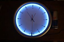 F/X WALL CLOCK ART DECO STYLE WALL MOUNT WITH DESK STAND-NEON BLUE