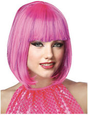 Synthetic Role play Anime Peluca Reenactment or Crossdresser Costume Pink Wig