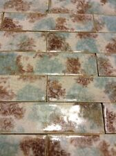 COMPLETE SET VINTAGE VICTORIAN ANTIQUE FIREPLACE TILE  MANTLE ART TILES MAJOLICA
