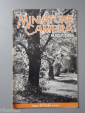 R&L Vintage Mag, The Miniature Camera October 1949, Character Studies/Contax S