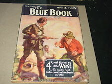 """The Blue Book Magazine   April 1925   A. Christie Poirot Story """"The Lost Mine"""""""